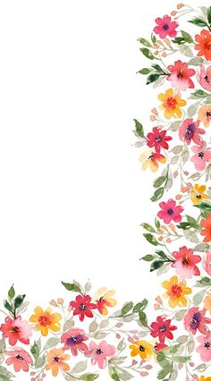 Floral wallpaper without calendar for phone. Watercolor Wallpaper, Flower Wallpaper, Screen Wallpaper, Pattern Wallpaper, Floral Watercolor, Watercolor Paintings, Flower Backgrounds, Wallpaper Backgrounds, Iphone Wallpaper