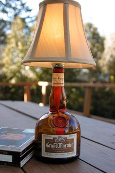 Grand Marnier Bottle Lamp by kingston6studio on Etsy, $45.00