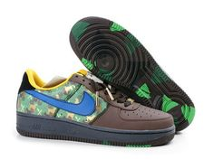 Chaussures Nike Air Force One Noir/ Brun/ Bleu/ Vert [nike_10581] - €58.93 : Nike Chaussure Pas Cher,Nike Blazer and Timerland https://www.facebook.com/pages/Chaussures-nike-originaux/376807589058057