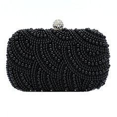 Stream Womens Full Beaded Vintage Pearls Evening Clutch Handbag for Women
