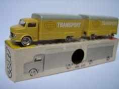 Mercedes truck and trailer nr 652 Transport Diecast, Transportation, Trucks, Plastic, Toys, Lego Car, Denmark, Globe, Model