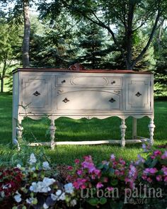 "Classy Creamy Buffet by ""Urban Patina} Love the colors! #PaintedFurniture"
