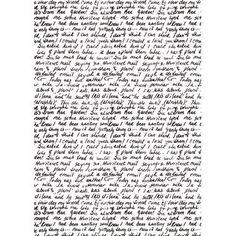 Rice Paper A4 Handwritten letter