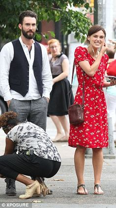Keira Knightley's Red Dress in Begin Again