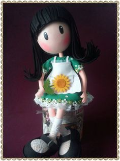 Gorjuss Clay Dolls, Doll Toys, Lalaloopsy, Foam Crafts, Diy Crafts, Eva Hair, Biscuit, Hair Decorations, Magnolias