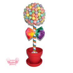 Small Rainbow Lollipop Topiary, Candy Topiary. Edible Centerpiece, Lollipops, Candy Buffet, Centerpiece, Rainbow, Birthday, Wedding, Candy on Etsy, $44.99