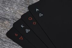These minimal playing cards : ProductPorn