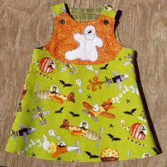Halloween Flights A line dress size 6 months by ArtsyCrafty, $25.00