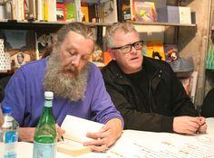 Mitch Jenkins & Alan Moore signing Unearthing at Gosh Comics    #alanmoore #mitchjenkins #unearthing