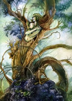 Female Tree Spirit | click here for the full-size image (1144x1600,1325Kb)