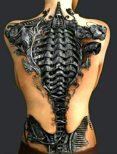 Become an alien cyborg with a biomechanical tattoo tatoo feminina - tattoo feminina delicada - tatto Fake Tattoo, Weird Tattoos, Badass Tattoos, Back Tattoos, Sexy Tattoos, Body Art Tattoos, Sleeve Tattoos, Tattoos For Guys, Tattoos For Women
