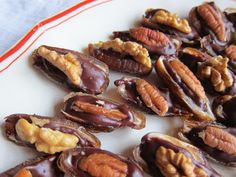 Dates, chocolate and nuts