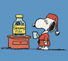 Snoopy having trouble sleeping