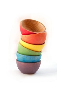 Rainbow Stacking Bowls Nesting Bowls Montessori by CakeInTheMorn Toddler Toys, Baby Toys, Kids Toys, Baby Shower Gifts, Baby Gifts, Baby Plates, Gift Maker, Bring Up A Child, Minimalist Baby