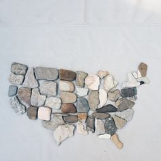 Stone map - states made of stones from each state?