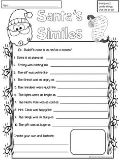 Free simile practice for Christmas- love it!