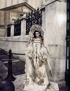 Lacroix haute couture Fall 2009 on Dita von Teese; photographed by Marcin Tyszka.