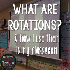 Classroom Management--setting up small group rotations in a primary classroom.