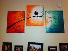 Image result for easy abstract paintings of trees