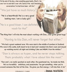 Emma Watson about Daniel Radcliffe gif
