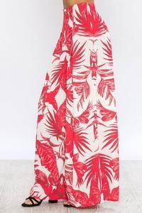 0b06b604277 Description  Flying Tomato Palm Print Palazzo Pants by Des-Beaux Aprox.  Measurements  43 in length (Size Small)