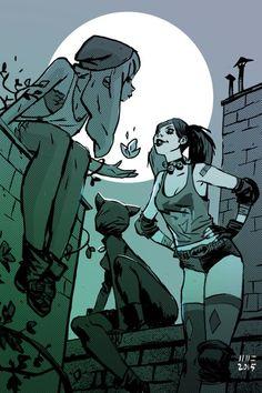 gotham city siren (Harley Quinn, poison ivy and catwoman) Arte Dc Comics, Batman Comics, Batman Batman, Batman Arkham, Batman Robin, Joker Y Harley Quinn, Dc Batgirl, Der Joker, Hq Dc