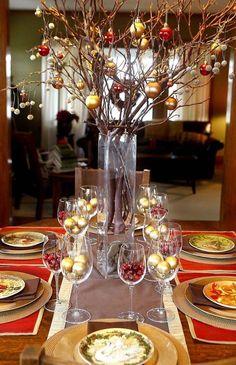 50 Fabulous Christmas Table Decorations on Pinterest Christmas Celebrations