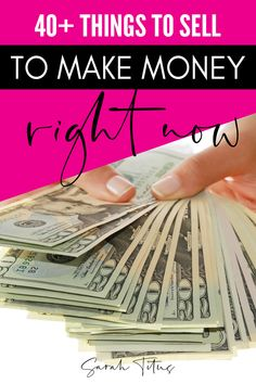 40 Things to sell right now to make extra money make fast cash or make money sidehustling! Find out now what you can sell to make money! Ways To Earn Money, Earn Money Online, Money Tips, Money Saving Tips, Earn Extra Cash, Extra Money, Make Money From Home, How To Make Money, Fast Cash