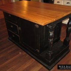 Beautiful X Solid Wood Rustic Kitchen Island Beautiful