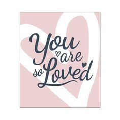 Poster You are so loved - Wanddecoratie