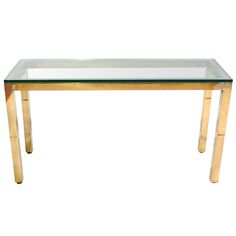 1stdibs - Solid Brass and Glass Parsons Style Console explore items from 1,700  global dealers at 1stdibs.com