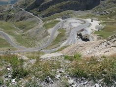 Looking down from the Col du Galibier - French Alps