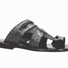 50 shadows of grey and materials in this elegant #sandal by #Alfi  www.300x100.it