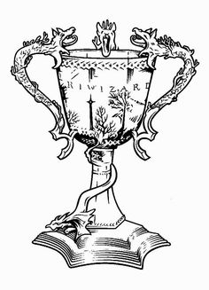 Coloring Pages Harry Potter Goblet Day Tattoos