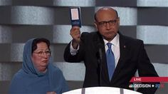 The father of Humayun Khan, a Muslim American soldier who died during his service, questioned Donald Trump's patriotism at the Democratic National Convention, asking him whether he had read the United States Constitution. American War, American Soldiers, Bbc News, Donald Trump, Trump Speech, Democratic National Convention, Dio, Constitution, Decir No