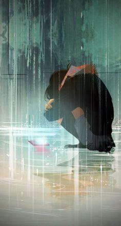 Shop thành lập vào ngày 4/8/2017. Nếu bạn muốn có một bức ảnh đẹp đ… #ngẫunhiên # Ngẫu nhiên # amreading # books # wattpad Manga Anime, Sad Anime, Animes Manga, Anime Love, Amazing Art, Sad Girl Art, Rain Art, Sleepless Nights, Loneliness