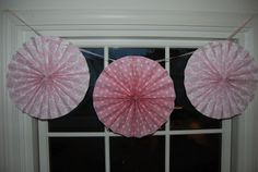 how to make paper fan decorations | Home with Lindsay: How to make circle paper fans