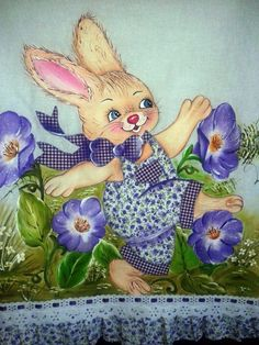 Easter Pictures, Free Machine Embroidery Designs, Craft Tutorials, Easter Bunny, Cartoon Characters, Tinkerbell, Folk Art, Art Drawings, Sketches