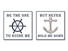 Popular items for nautical quotes on Etsy Anchor Quotes, Nautical Quotes, Nautical Nursery, Nautical Home, Nautical Tattoos, Anchor Nursery, Beach Quotes, Beach Sayings, Sounds Good To Me