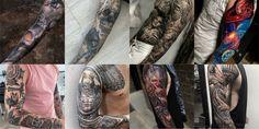 125 Best Sleeve Tattoos For Men: Cool Ideas + Designs Guide) Tattoos Masculinas, Upper Arm Tattoos, Tribal Sleeve Tattoos, Japanese Sleeve Tattoos, Best Sleeve Tattoos, Full Sleeve Tattoos, Hand Tattoos, Dragon Tattoos, Celtic Tattoos