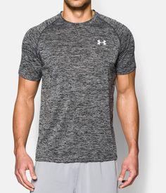 7e9016af9 Men's UA Tech™ Short Sleeve T-Shirt, Black , zoomed image Under Aurmor