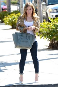 Hilary Duff heads to Crumbs in Beverly Hills to buy some Valentines Day cupcakes