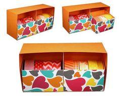 Shoebox Crafts : DIY Washi Tape Storage Drawers!