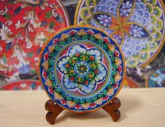Tuscan Style Miniature Plate for Dollhouse by LeClosDesLavandes