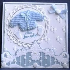 Cute Baby Card or wall plaque Baby Boy Cards, New Baby Cards, Baby Shower Cards, Baby Scrapbook, Scrapbook Cards, Marianne Design Cards, Baby Shower Invitaciones, 3d Cards, Beautiful Handmade Cards