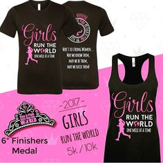 "It's that time of year ladies!!! Our 2017 Girls Run the World 5K/10K Virtual Run is now open for Registration!!!! This years medal is a6"" TIARA and is the largest Flex it Pink finishers medal to date!!! Run packs will be shipped by mid April official run dates are April 22 - 30th. Packs include run tank/tee 6"" tiara finishers medal race bib and instructions for the event. We sold out completely last year so click on the link and register today at early bird pricing so you won't miss out this…"