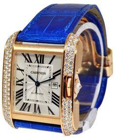 Cartier WT100016 Tank Anglaise 18K Rose Gold Diamond Watch