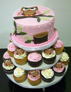 owl 1st birthday cake toronto by www.fortheloveofcake.ca, via Flickr