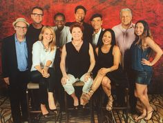 photo op - Melissa with Voyager cast