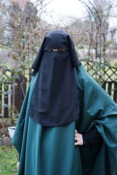 Niqab Saudi lang Burka mit 3 Lagen Hijab Jilbab Khimar Islamische Kleidung